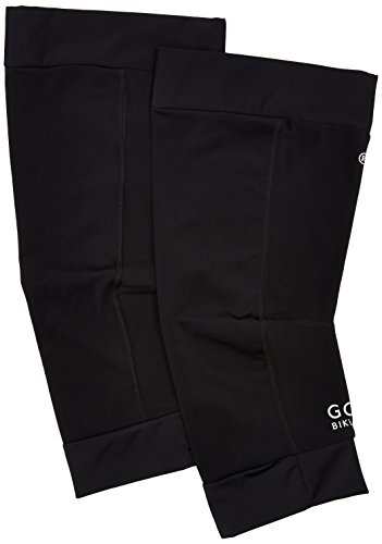 GORE BIKE WEAR Calentadores térmicos para rodillas Unisex, Gore Selected Fabrics, UNIVERSAL Thermo Knee Warmers, Talla M-L, Negro, ATUNKW
