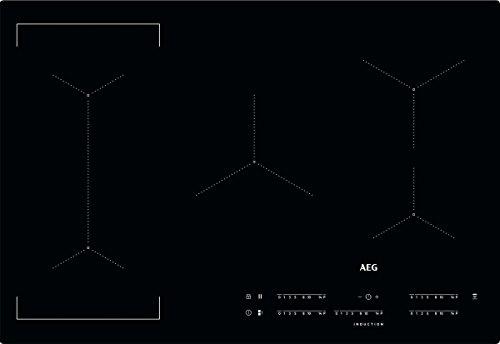 AEG IKE85441IB Induktionskochfeld autark Hob²Hood-Funktion Bridge-Funktion SlimFit-Design 80cm