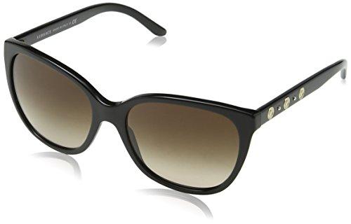 Versace Damen VE4281 GB1/13 Sonnenbrille, Schwarz (Onyx, One Size (Herstellergröße: 57)