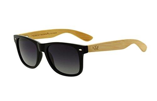 d510347c84 Gafas de Madera Mosca Negra Modelo Mix Basic Black Polarizadas - Wood  Sunglasses
