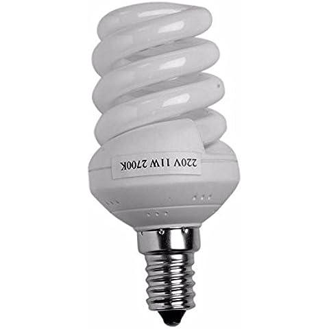 ADTWIN - Bombilla bajo consumo espiral e14 25w - luz neutra (4200ºk)