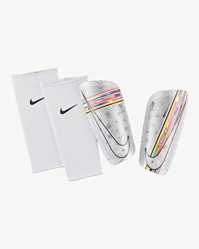 a7399aa0f46 Nike Mercurial Lite Soccer Shin Guards (White Multi-Color) (M)