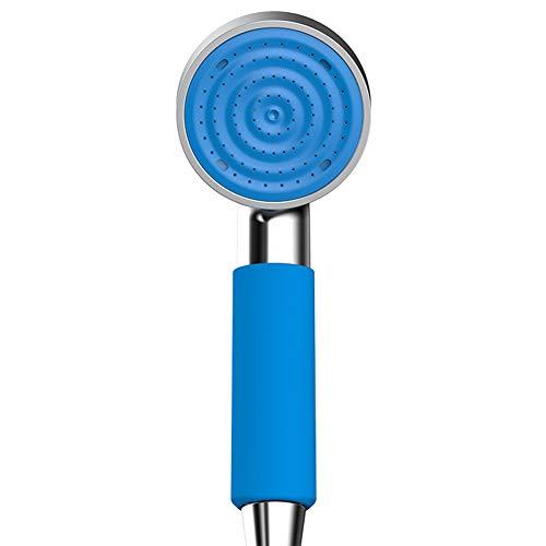 WYRX Kind Baby Duschkopf Niedriger Wasserdruck Anhebung Handheld Supercharged Einzelkopf Dusche Warmwasserbereiter Blau (B) - Speakman Duschkopf
