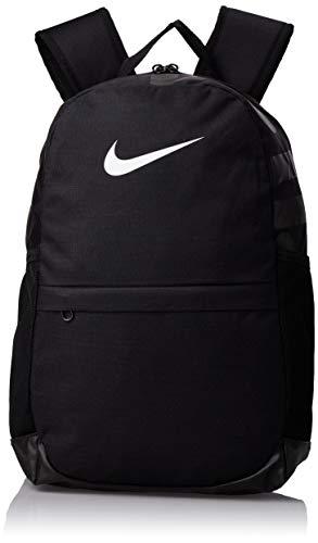 Nike Kinder Brasilia Rucksack, Black/White, 15 x 30.5 x 43 cm