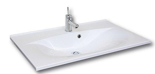 Fackelmann Waschbecken 80 cm Capri Weiß