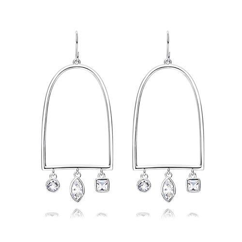 Adisaer Ohrringe Damen Vintage S925 Sterling Silber 925er Silber damen ohrringe Ohrringe Für Frauen Hohlen Birdcage Kristall Creolen