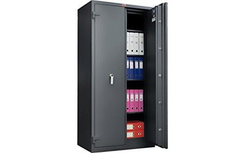 Safe | Tresor mit Feuer- und Einbruchsschutz nach Klasse ECBS Grad S2 nach EN 14450 sowie LFS 60P nach EN 15659 GRAPHITGRAU