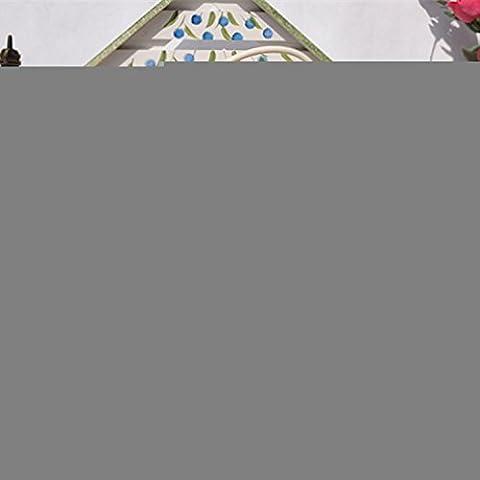 GYN Europea Retro hierro vela titular de amor hueco negro y blanco vela titular Creative Desktop decoraciones caseras , white
