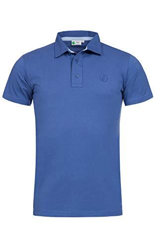 Banqert Herren Polo, Faire Löhne, Made in Mauritius Poloshirt-s Polohemd-en Funktionsshirt Männer Shirt-s Kurzarm einfarbig-e Hell-blau L