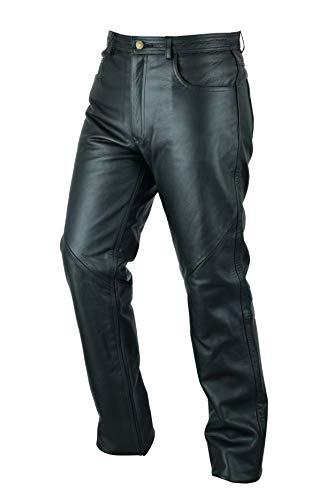 Pantalones vaqueros de motociclismo para hombre - Cuero - Negro -...