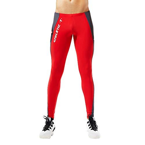 se einfarbige slim fit lang leggings kompression strumpfhose unterwäsche männer yogahosen stretch gym sporthose trainingshose kompressionshose herrenleggings funktionswäsche pants ()