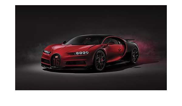 A4 famous sport car auto highway road Print poster A0 Bugatti Chiron ver.1