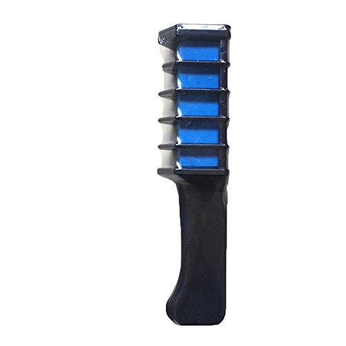 Bluelover 1Pc Tinte Temporal Color De Pelo Tiza Pastel Suave Crema Peine Salon Cepillo-Azul