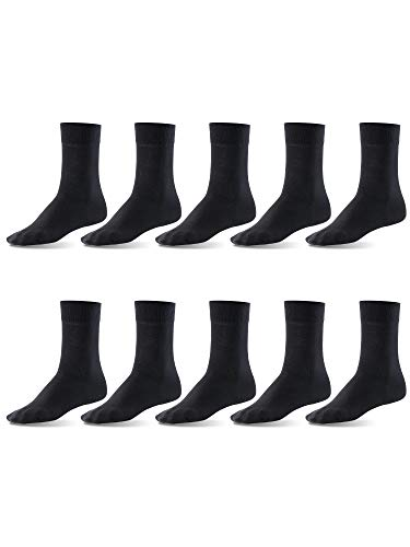 Mat and Vic's Cotton Classic Socken, 10 Paar,  größe 47-50,  Schwarz -