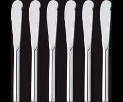 Horwood BL45 Butter Knives, Set of 6, Silver