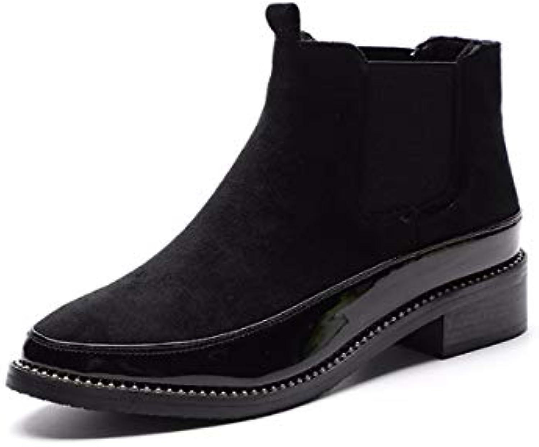 KOKQSX-Signore Gli Stivali lacca Testa rossoonda Calore Moda Martin Gli Stivali Chelsea stivali. 35 nero | Alla Moda  | Uomo/Donne Scarpa
