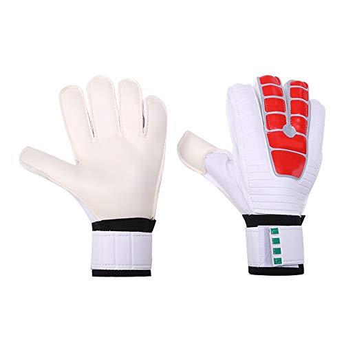 W.S.-YUE Fußballtorwarthandschuhe Professionelle Handschuhe Latex Erwachsene Kinder Sportgeräte Feuchtigkeitsabsorbierende atmungsaktive, verschleißfeste Anti-Rutsch-Torwarthandschuhe