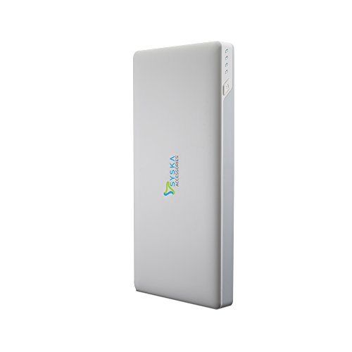 Syska Power Slice100 10000mAH Power Bank (White)