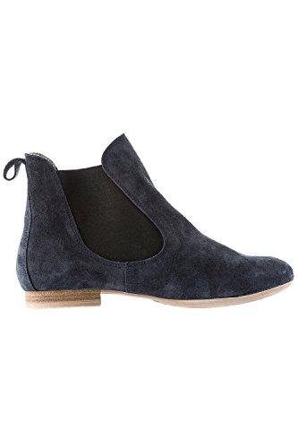 Ulla Popken Femme Grandes tailles Boots Chelsea 708553 Bleu Marine
