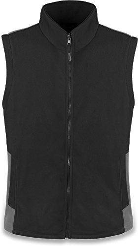 normani Outdoor Sports Herren Fleeceweste mit Reißverschlusstaschen Bodywarmer Farbe Schwarz Größe XL