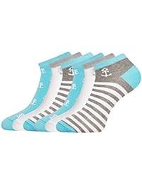 oodji Ultra Mujer Calcetines Tobilleros (Pack de 6)