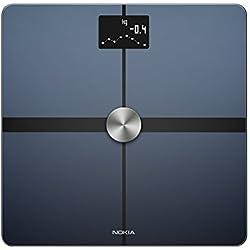 Nokia Body+ - Bilancia Pesapersone Wi-Fi con Indicazione della Composizione Corporea, Nero