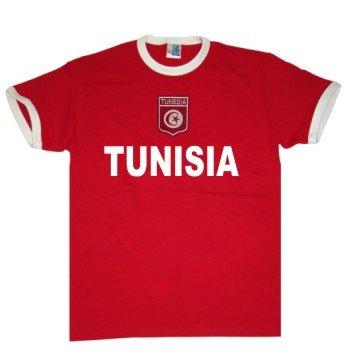 Tunesien WM 2018 KINDER T-Shirt Trikot Look Fußball+inkl.Druck Name+Nr