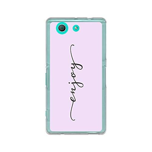 BJJ SHOP Transparent Hülle für [ Sony Xperia Z3 Mini Compact ], Flexible Silikonhülle, Design: Worte der Motivation, Enjoy (Sammeln Wörter)