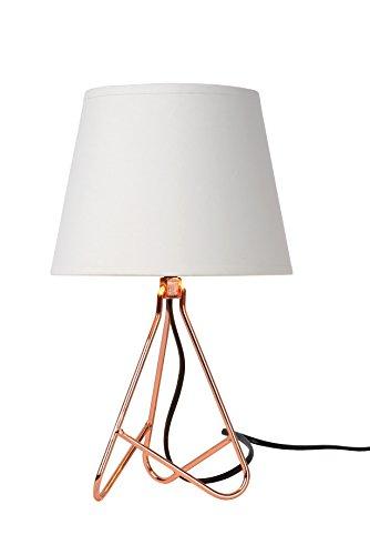 Lucide Gitta - Tischlampe - Durchmesser 17 cm, Metall, E14, 40 W, Copper, 1 x 1 x 30 cm - Dark Metal Base