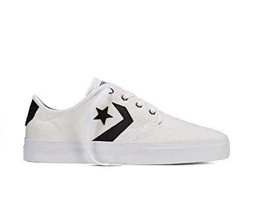 Converse Mens Cons Zakim Ox Egret/Black Skateboarding Shoe 151316C (US 12)