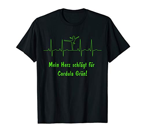 Die grüne Cordula - Cordula in Grün T-Shirt - Herz -Fasching