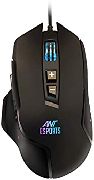 Ant Esports GM300 RGB Wired Gaming Mouse with Optical Sensor 1000 Hz Polling Rate | 4800 DPI for FPS and MOBA
