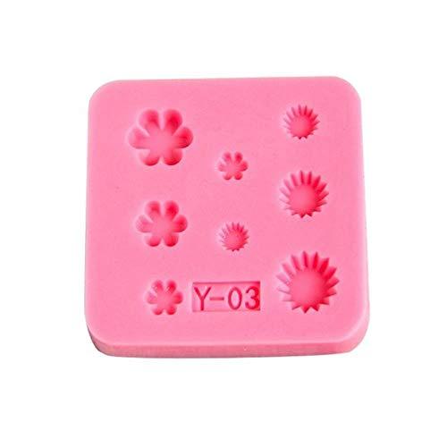 LASISZ Silikonform Mini Mold - Miniatur-Lebensmittel, Süßigkeiten, Schmuck, Charms (Epoxy, Ton, Fondant, Fimo, Harz) Mini Edelstein, 3