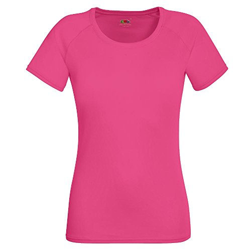 Fruit of the Loom - Lady-Fit Funktionsshirt 'Performance T' / Fuchsia, S