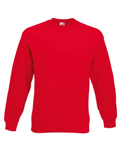 Fruit of the Loom Classic Set-In Sweat, Farbe:rot, Größe:M Fruit Of The Loom Classic Sweatshirt