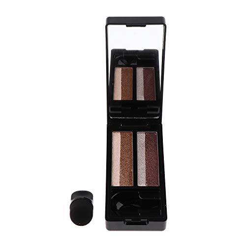 Fenteer Palette Maquillage Cosmétique Shimmer Matte Fard à Paupières Eyeshadow Palette Outil Bauté des Yeux Imperméable d' Eau - #2