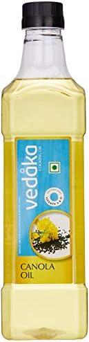 Amazon Brand - Vedaka Canola Oil Bottle, 1L