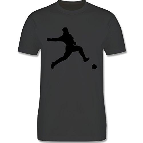 Fußball - Fußball - Herren Premium T-Shirt Dunkelgrau