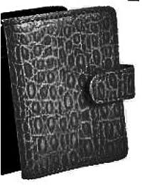 Clairefontaine, 1 étui porte cartes de visites en cuir noir 10,5x7,5cm