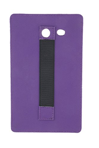 Colorcase Leather Back Cover Case for Micromax Canvas Tab P701 with Hand Grip - (Purple)