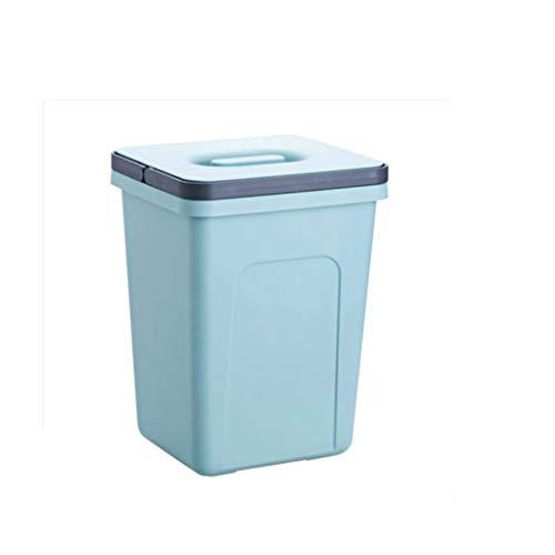 Zlw-shop Secchi per la spazzatura Addensare Grande Creativo Creativo Cestino Bagno Cucina Soggiorno Ufficio con Coperchio Secchio di stoccaggio (Color : Blue)