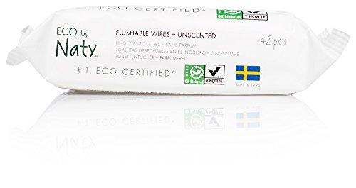 Naty by Nature Babycare Öko Feuchter Toilettentücher, 12er Pack (12 x 42 Stück) - 3