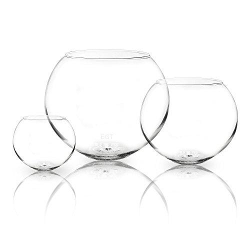Cuenco de cristal redondo para usar como jarrón