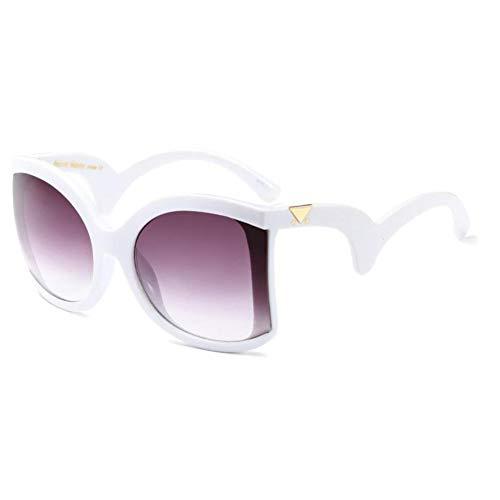 LIUYAWEI Retro Sonnenbrille für Frauen Big Frame Summer Shades Luxury Schwarze übergroße Sonnenbrille 2019 Geschwungene Beine Quadratische Brille