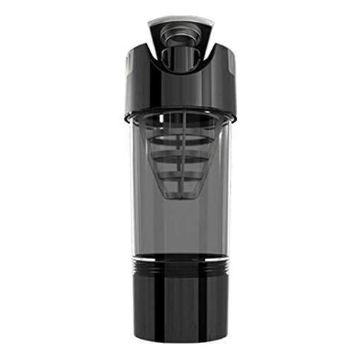 RZRCJ Protein Shaker Whey Protein Pulver für Fitness Gym Shaker Sporternährung Mixer Flasche für Protein Pulver Wasserflasche (Capacity : 450ml, Color : Black)