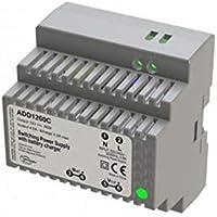 Sewosy - Cargador DIN (1 módulo 230 V CA/12 V CC/60 W, 4,5 A/500 mA de carga)