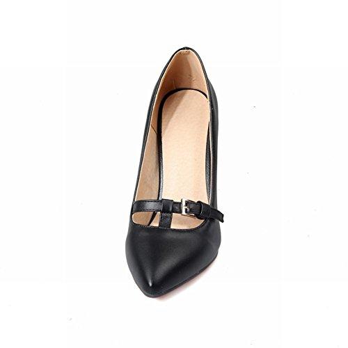 Mee Shoes Damen spitz Geschlossen high heels Pumps Schwarz