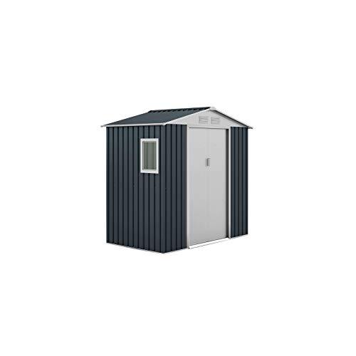 Gardiun KIS12131 - Caseta Metálica Darwen, 2.71 m² Exterior, 127 x 213 x 205 cm, Acero Galvanizado...
