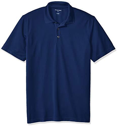 Geoffrey Beene Herren Big and Tall Short Sleeve Ottoman Solid Polo Shirt Poloshirt, Blau - Blue Depths, 4X-Large Hoch -