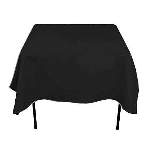 Carré Coton Nappe Polyester Coque pour mariage, salle à manger et fête d'anniversaire 177,8x 177,8cm par Mariage d'alimentation, Tissu, Unité, Noir